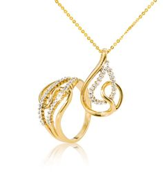 CZ Pendant at and Ring at *Prices Valid Until 25 Dec 2013 Gold Jewelry, Fine Jewelry, Gold Necklace, Pendant Necklace, Silver Rings, Wedding Rings, Facebook, Diamond, Bracelets