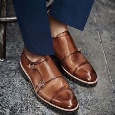 """This shoe has been described as the """"most advanced"""" dress shoe. It's not for mere mortals…only stylish gents can wear them. It's the double monk strap shoe.The double monk strap shoe is the dress shoe of the season…two straps, two buckles…they are the hottest trend in men's shoes.But I must really warn you – not just any man can pull off the look – only the bold stylish gentleman can.For more information visit at http://mrkoachman.com/stylish-shoe-double-monk-strap"""