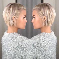 Krissa Fowles short blonde hair - Makeup İdeas For Wedding Popular Short Hairstyles, Short Bob Hairstyles, Hairstyles 2018, Layered Haircuts, Easy Hairstyles, Short Blonde, Blonde Hair, Short Hair Cuts, Short Hair Styles