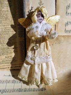 Vintagesavonette: (Weihnachts-)Engel fliegen zu allen Zeiten - (Christmas-) Angels are Always Busy - Christmas Decoration