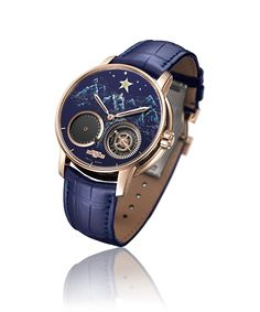 10 outstanding, one-of-a-kind timepieces will be on auction on November 7 to support research for Duchenne Muscular Dystrophy. Pictured: Academia Out of Time, DEWITT.