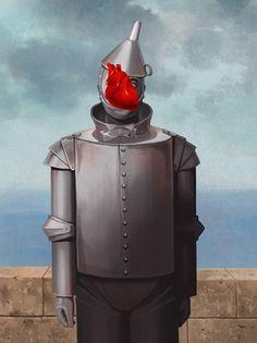 y sip el dios magritte hubiese visto el mago de oz. °) de ben chen ____________________________ if the god magritte would've seen the wizard of oz movie. Rene Magritte, Cultura Pop, Conceptual Art, Surreal Art, Illustration Arte, Tin Man, The Son Of Man, Heart Art, Man Heart