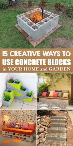 15 Creative Ways to Use Concrete Blocks in Your Home and Garden is part of Diy garden projects - With just some creativity and imagination, you can repurpose these smart blocks into practical furniture or decorative pieces for your home and garden