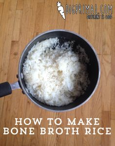 Making rice as nutritious as possible. So yummy!