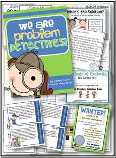 Problem and Solution Packet- Students are given different case files and must become problem detectives in order to solve problems! Teaching Tips, Teaching Reading, Learning, Detective Theme, Social Thinking, 4th Grade Math, Teacher Blogs, School Psychology, Problem And Solution