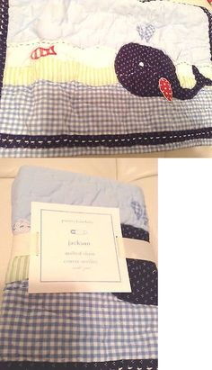 Pillowcases and Shams 124327: Pottery Barn Kids Jackson Whale Small Nursery Crib Quilted Sham Blue Nautical -> BUY IT NOW ONLY: $34.95 on eBay!
