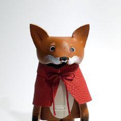 Leather Fox No.032 by HeritageByHuns on Etsy