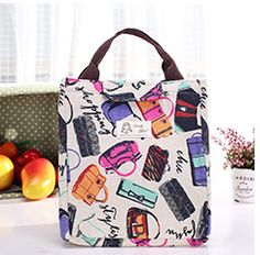 3f6b19450202 Canvas Women Insulated Lunch Bag Bag Lunch Box Thermal Food Picnic Lunch  Pouch For Kids