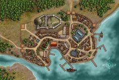 Ponte di Nivakta Fantasy city map Town map Village map
