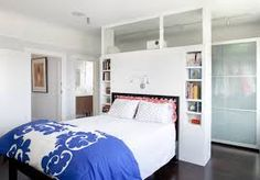 walk in wardrobe behind bed - Google Search