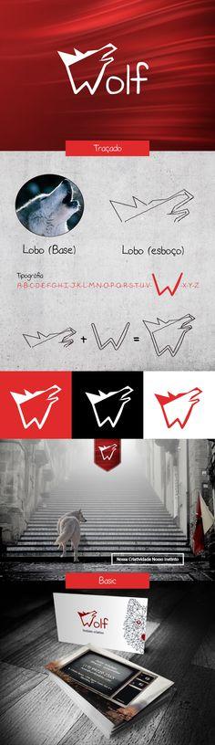 Criação base do logo da Wolf Publicidade