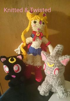 Sailor moon Sailor Moon, Crochet Necklace, Christmas Ornaments, Holiday Decor, Diana, Jewelry, Characters, Fashion, Amigurumi