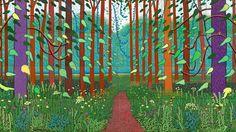 David Hockney - tree painting - Choose your own style David Hockney Artwork, David Hockney Prints, David Hockney Landscapes, Landscape Art, Landscape Paintings, Art Paintings, Illustrations, Illustration Art, Jeff Koons