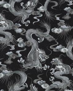 Nobu Fujiyama - Lair of the Dragon - Cloud Serpents - Black