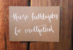 Kraft Quote Poster these hallelujahs be by BrochaDesigns on Etsy