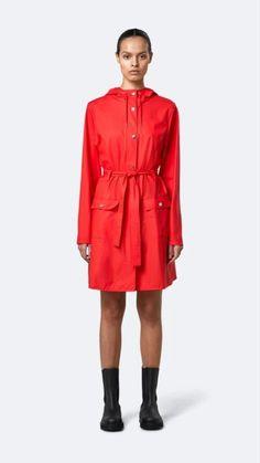 Cool Silhouettes, Waterproof Rain Jacket, Red Belt, Woman Silhouette, Belted Coat, Rain Wear, Dame, Jackets