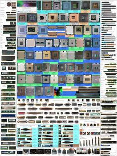 Ever heard of a computer hardware chart? Ever wondered of the color-coding and pins configuration? Well, out knowledge limits to what we use and not beyond