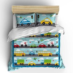Things That Go Vroom Theme Kids Duvet by PickleberryDesignsNY