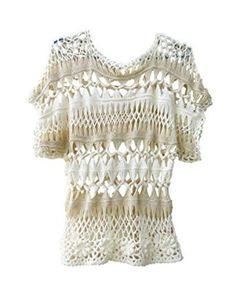 crochet blouse short sleeve summer tops for women