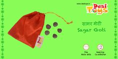 Sagar-Goti is a classic #Indian game played with 5 big round seeds(Gajage/Sagar goti). Only for Rs. 149/- Also available on #Amazon - http://amzn.to/2ckXO61 #Flipkart, #Snapdeal, & #FirstCry #DesiToys #traditional #Indian #Toys