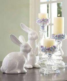 conigli in ceramica