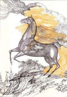 Elena Boariu Art Reference, Fairy Tales, Moose Art, Illustration Art, Fantasy, Artist, Artwork, Illustrator, Animals