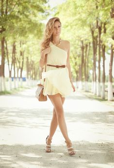 @roressclothes closet ideas #women fashion Graceful White Dress for Summer