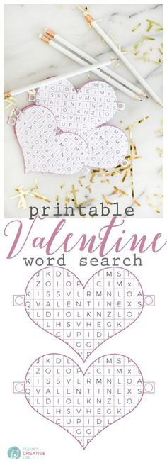Valentine Word Search Printable Free printable Valentine's Day classroom Valentines. Non-food, non-treat Valentine ideas. Valentines Word Search, Valentine Words, Kinder Valentines, Valentines Day Party, Valentines Day Decorations, Valentine Day Crafts, Valentine Ideas, Printable Valentine, Valentinstag Party