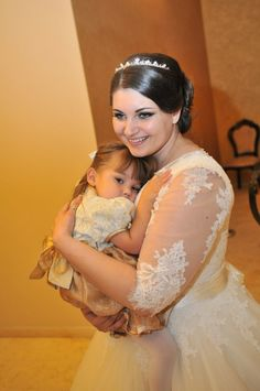 Small doll- flower girl with the bride