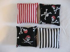 Pirate bean bags for corn hole