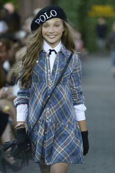 Maddie Ziegler modeling Polo Ralph Lauren clothes 2015