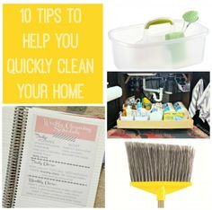 Really practical tips about keeping up with cleaning your house.