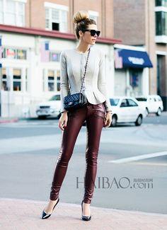 Wine red pants