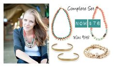 """""""Paper bead Necklaces & metal arm candy."""" by kateboston on Polyvore"""