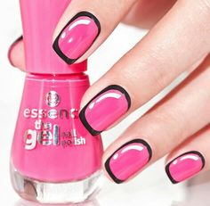 Bright Pink Marvel Nails