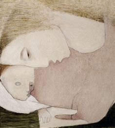 Artemis Dreaming, Madonna and Child, 1945, oil on gesso-primed...