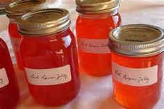 sweet red pepper jelly -  Bing Image