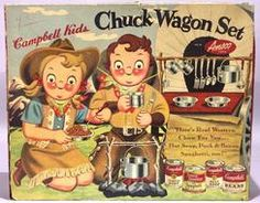 Tableware; Campbell's Soup, Campbell Kids Chuck Wagon Set, Original Box.
