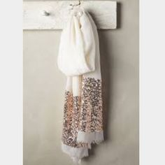 Anthropologie Sequin Scarf NWOT Anthropologie Sequin Scarf NWOT beautiful light and flowy material perfect for transition to spring. Wool silk blend. Gorgeous Anthropologie Accessories Scarves & Wraps