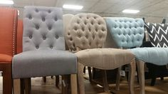 Tufted dining chair options At Home 1431/183