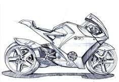 visual result of motorcycle design - Motorcycle Design - Motorrad Bike Sketch, Car Sketch, Car Drawing Pencil, Pencil Drawings, Motorcycle Art, Bike Art, Motorbike Drawing, Tattoo Studio, Design Autos