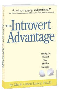 """""""The Introvert Advantage, How to Thrive in an Extrovert World, combines Dr. Laney's clinical experience, interviews with Introverts, research from neuroscience and related disciplines to piece together the physiological reasons why introverts and extroverts behave differently. This book helps introverts to understand, appreciate and manage their internal processing systems."""""""