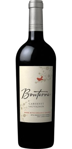 Thankful for organic wine! 2010 Cabernet Sauvignon - Bonterra Organic Vineyards  #Modern Thanksgiving