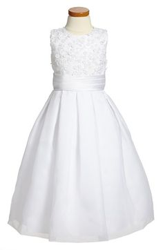 Joan+Calabrese+for+Mon+Cheri+Sleeveless+Communion+Dress+(Big+Girls)+available+at+#Nordstrom