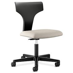 T-Shaped Back Armless Fabric Task Chair