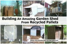 Building An Amazing Garden Shed From Recycled Pallets