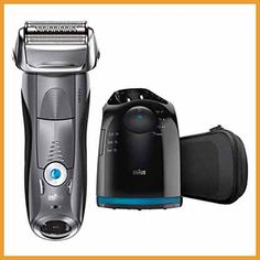 Braun Series 7 Electric Razor for Men, Rechargeable and Cordless Electric Shaver, Foil Shaver, Silver, with Clean&Charge Station and Travel Case Best Electric Razor, Best Electric Shaver, Electric Razors, Best Razor For Men, Braun Shaver, Foil Shaver, Technology Gifts, Beard Trimming, Beauty Advice