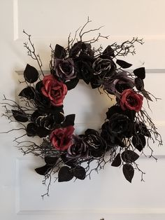 Rose with Spider Wreath, from Michaels, August 2017 Halloween Items, Halloween Home Decor, Creepy Halloween, Diy Halloween Decorations, Holidays Halloween, Halloween Crafts, Holiday Wreaths, Holiday Crafts, Holiday Fun