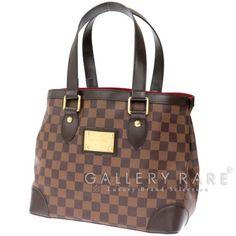 Auth-Louis-Vuitton-Damier-Hampstead-PM-Handbag-N51205-Leather-Purse-GR-1490626