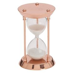 Decmode Glam 4 x 7 inch iron and clear acrylic copper hourglass, Copper, Bronze Decorative Objects, Decorative Pillows, Sand Timers, Home Goods Store, Copper Kitchen, Home Decor Outlet, Hourglass, Clear Glass, Sand Glass
